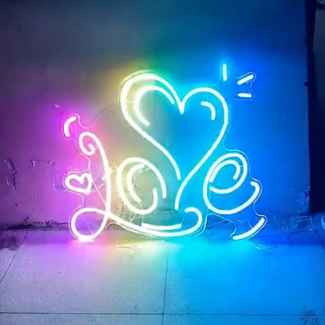 Colour changing custom neon signs