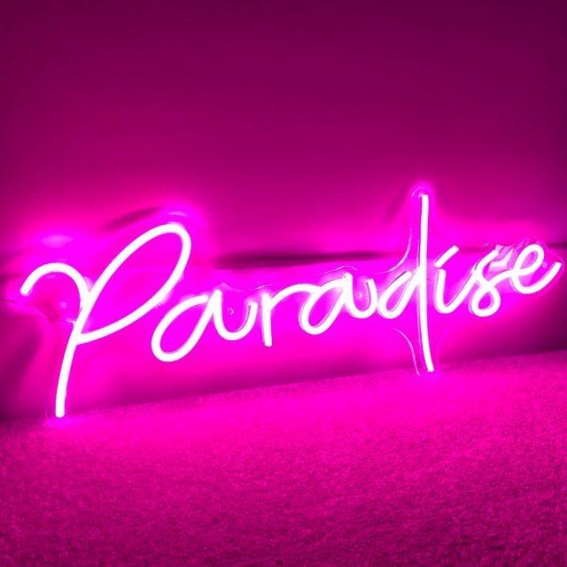 Paradise neon signs 🏖️#neonsigns #customneonsign #bedroomdecor #bedroom #bedroominspo #bedroomideas