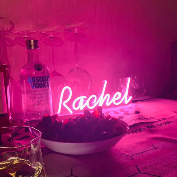 name neon signs pink