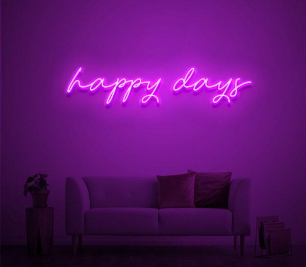 happy days neon sign