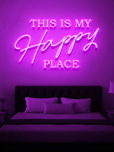this is my happy place neon signs