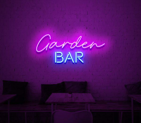garden bar neon sign